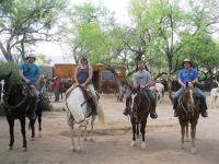 We went on a trail ride with Houston's Horseback Riding in the East section of Saguaro National Park.