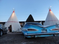 Our Lodging for the night in Holbrook was the famous Wigwam Motel, a relic from the heyday of Route 66.