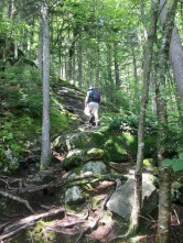 We hiked the Eyebrow Loop Trail at Grafton Notch State Park. A very steep climb that included ladders and chains for support.
