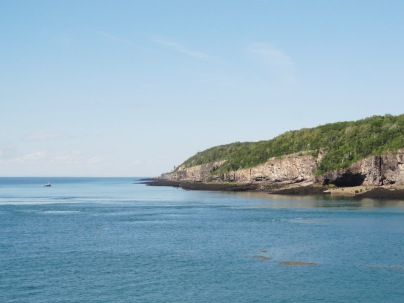 Our first view of Nova Scotia from on board the ferry from St. John, NB to Digby, NS.