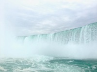 View of Horseshoe Falls from on board the Maid of the Mist.