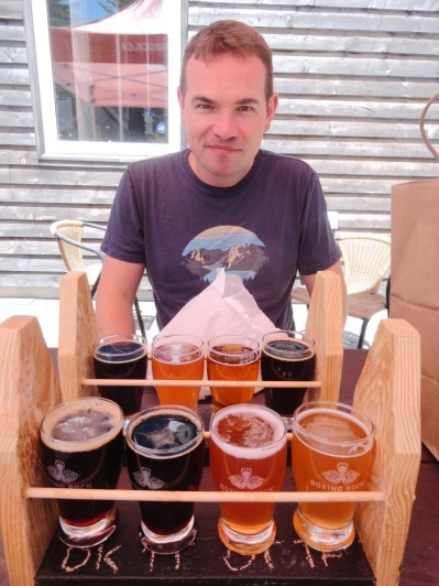 We sampled a total of 75 beers on the whole trip. This selection was from Boxing Rock Brewing in Shelburne, NS.