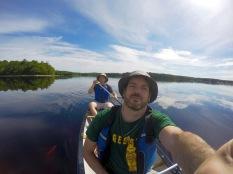 Canoeing on Kejimkujik Lake.