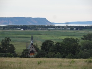 The Landscape of Grand Pré near Wolfville, is a UNESCO World Heritage Site because of the way Acadian settlers built a system of dykes to farm the lowlands.