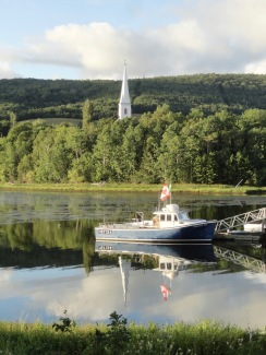 It was a good trip for reflections. This is Mabou Harbour seen on our walk to dinner.