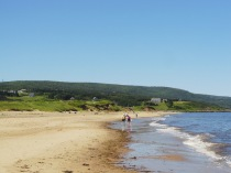 Strolling along the beach at Inverness, Cape Breton Island.