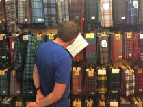 Crossing to the eastern side of Cape Breton Highlands we entered Scottish territory. The Tartans and Treasures store will find your family tartan for you. If you're not scottish, you can just admire the plaids.