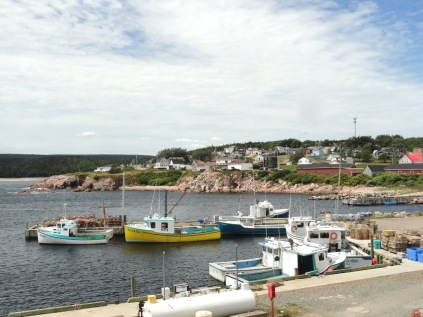 Neil's Harbour, Nova Scotia features those great fishing town vibes.