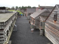 Fort Stanwix National Monument in Rome, New York is a re-creation of a revolutionary era fort.