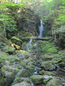 Dickson Falls is one of the most popular spots to visit at Fundy National Park.