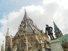 The Library of Parliament in Ottawa was the only part of the original House of Parliament to survive a fire in 1916.