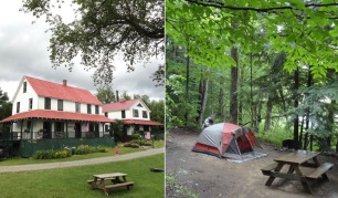 Night one of camping at Irondequoit Lodge in Piseco, NY. The nearby lodge meant we didn't have to rough it in the restaurant department.