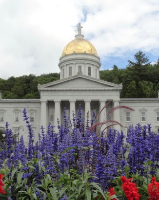 Vermont statehouse in Montpelier, the smallest state capital in the US by population.