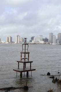 From Bywater, it's just a mile walk along Crescent Park to get to the French Quarter.