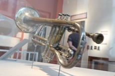 Louis Armstrong's Cornet at the New Orleans Jazz Museum.