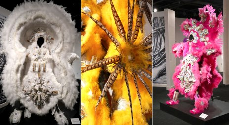 A temporary exhibit of Mardi Gras Indian costumes was also on display at the Jazz Museum.