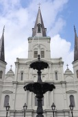St. Louis Cathedral is the centerpiece of the historic French Quarter.