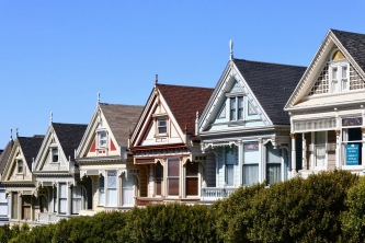 "The famous ""Painted Ladies"" at Alamo Square Park were just a few blocks from our San Francisco hotel."