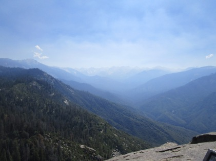 View toward the High Sierra peaks from Moro Rock.