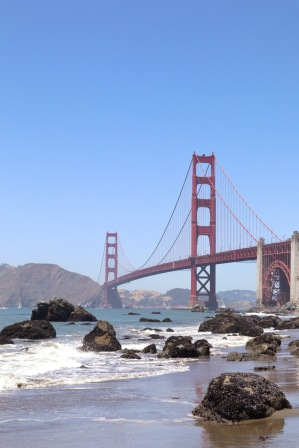 Marshall's Beach is a great place for views of the bridge. It's also a nude beach, so watch where you point your lens ;)