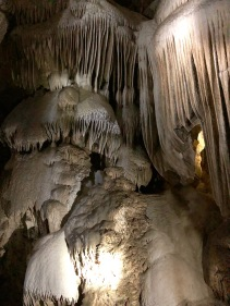 Formations inside Crystal Cave in Sequoia National Park.