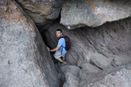 The second part of the hike took us down to Balconies Cave, a series of talus (fallen rock) caves that require flashlights.