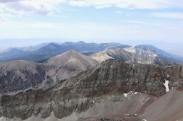 View south over the Snake Range from Wheeler Peak.