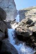 Wapama falls drops 1,100 feet into Hetch Hetchy Valley. It's an easy 5-mile round trip hike.