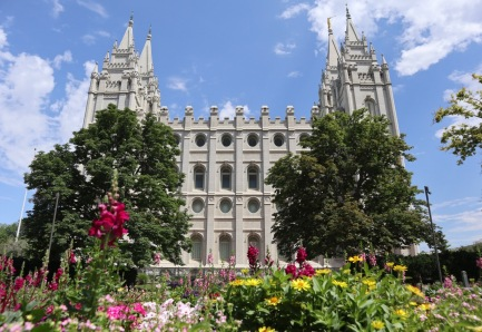 Mormon temple in Salt Lake City.