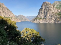 Our first stop in Yosemite National Park was the Hetch Hetchy Valley. John Muir tried for years to save it from being flooded by a reservoir for San Francisco's water supply.