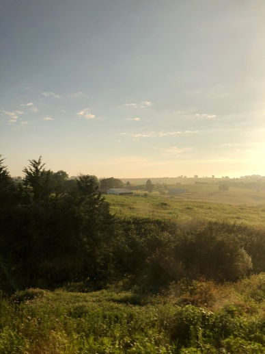 We took the overnight Amtrak California Zephyr back to Chicago from Denver. This was our wakeup view in Southern Iowa.