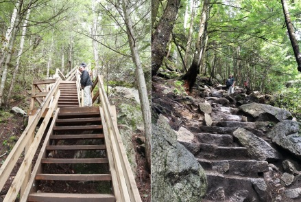 The hike up Stawamus Chief is very steep and has a lot of stairs at lower elevations.