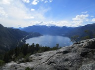 View south over Howe Sound from Stawamus Chief.