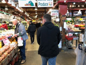 Browsing the Granville Island Public Market.
