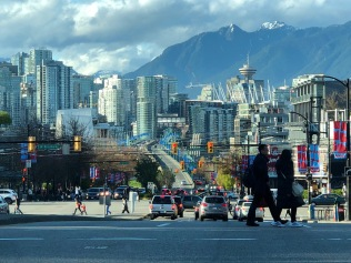 Typical Vancouver scene along Cambie Street.