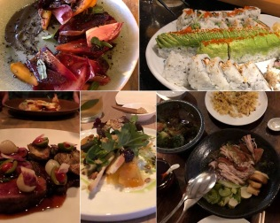 Vancouver dining. Favorites included The Acorn, Toshi Sushi, Bao Bei, L'abattoir, and Burdock & Co.