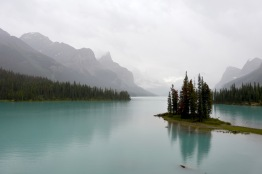 The Maligne Lake boat tour's destination is Spirit Island, considered one of the most scenic spots in Canada.