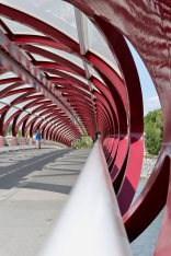 Calgary provided a couple days of city living. This is the Peace Bridge, designed by Santiago Calatrava.