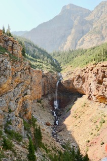 The hike to Crypt Lake has been called one of the best in the world. This is Burnt Rock falls on the way up.