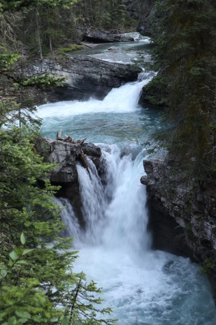 Waterfalls along the Johnston Canyon Trail.