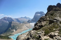 We took the grueling side trail up to the Grinnell Glacier overlook for a picnic lunch atop the continental divide.