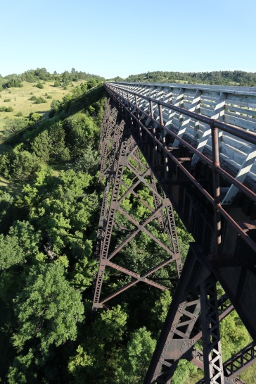 Old Rail Trestle over the Niobrara River outside of Valentine Nebraska now part of the Cowboy Trail.