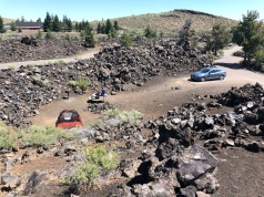Campsite 29 at Craters of the Moon National Monument. The sunken tent site was a benefit when wind gusts picked up in the evening.