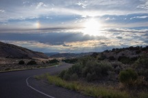 Approaching sunset on the way to the Green River Campground.