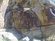 On the way to our rafting trip, we stopped by some Freemont culture petroglyphs, some of the best-preserved anywhere.