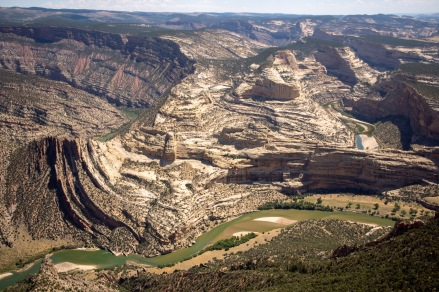 Overlooking the canyons carved by the Green and Yampa Rivers from Harpers Corner, Dinosaur National Monument.