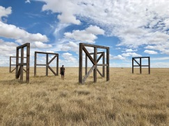 "We stopped by a fascinating art installation called ""Last Chance Modular Array"" near Last Chance, Colorado."