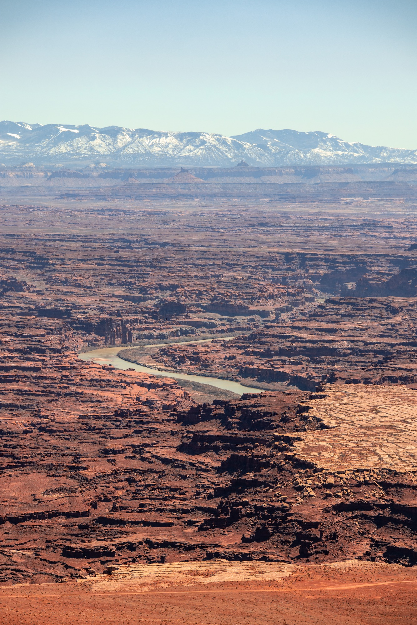 The canyons are never ending. Colorado River at the center.