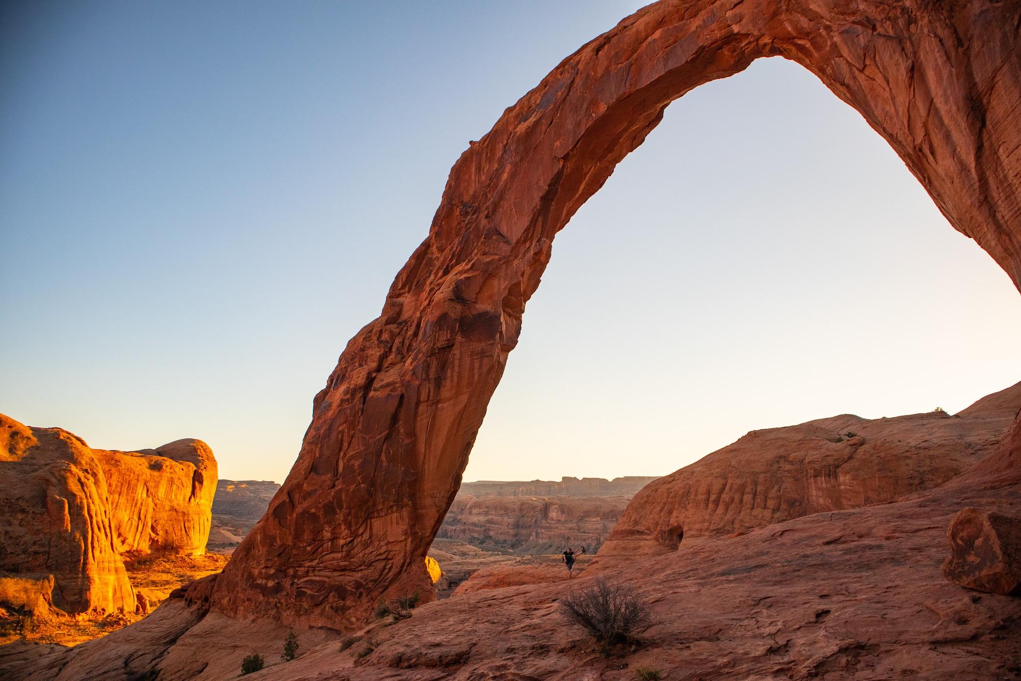 Corona Arch approaching Sunset.